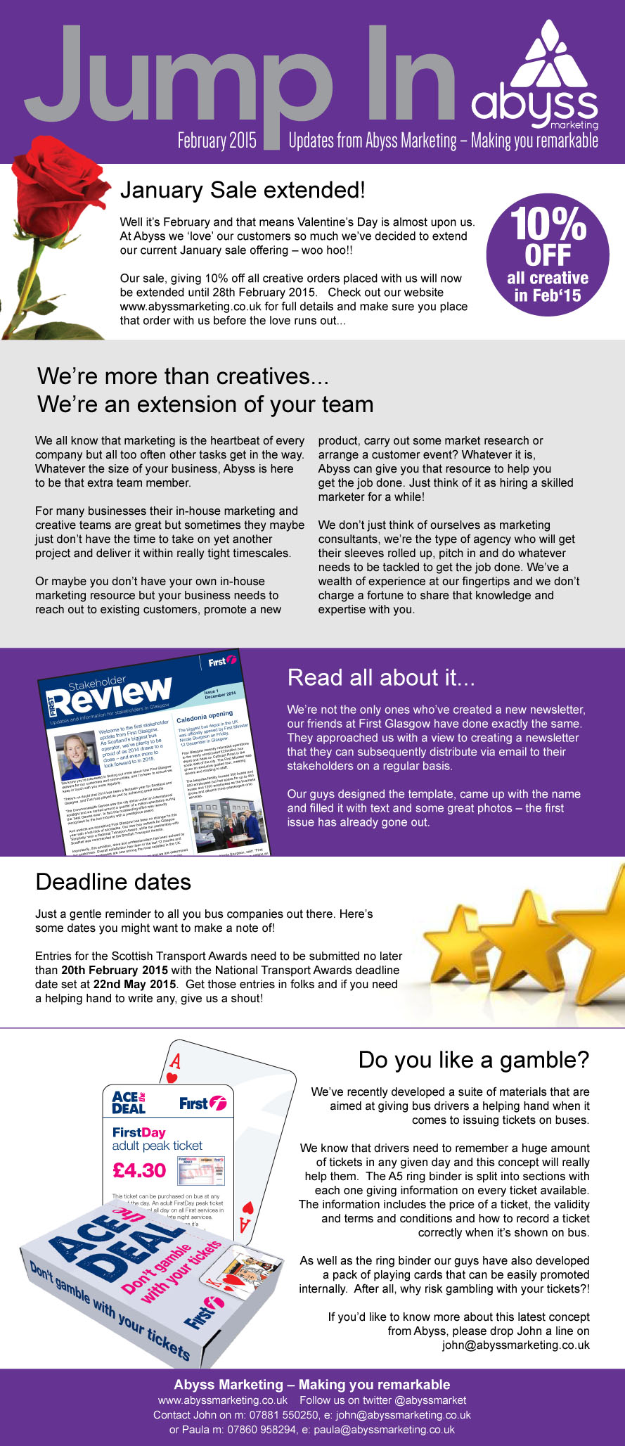 February's newsletter is ready and on the blocks