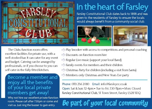 A new look  for Farsley Constitutional Club