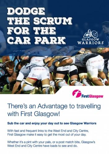 Glasgow Warriors leaflet