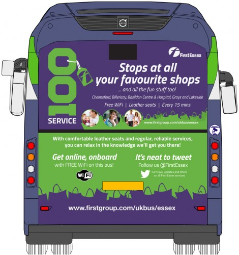 Service 100 mega rear advert